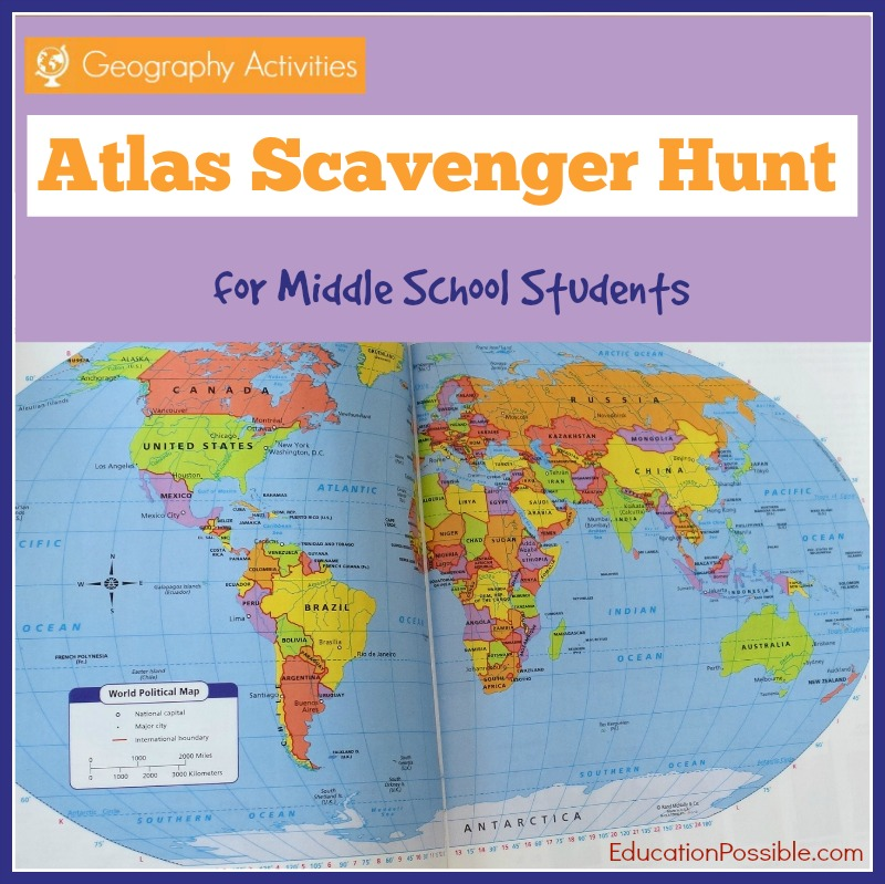 photograph regarding Printable Atlas identify Atlas Scavenger Hunt [Cost-free Printable] - Lucky Outside of A Question
