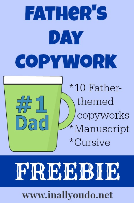 Father's Day Copywork FREEBIE