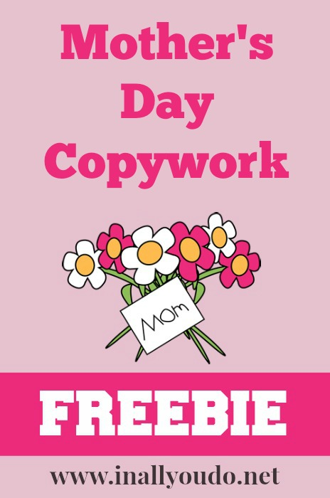 Mother's Day Copywork FREEBIE