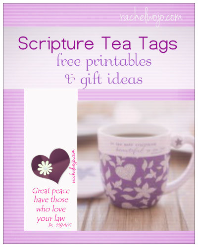 Scripture Tea Tags
