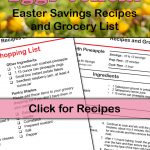 FREE Printable Easter Recipes and Grocery List!