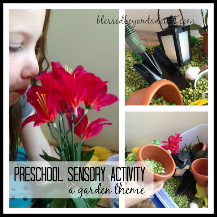 DIY Garden Preschool Sensory Activities