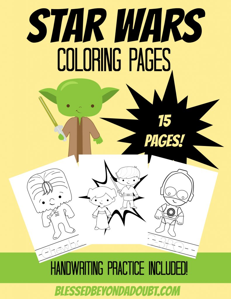 FREE Star Wars Coloring Pages!