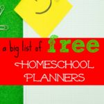 Pick a Free Homeschool Planner!