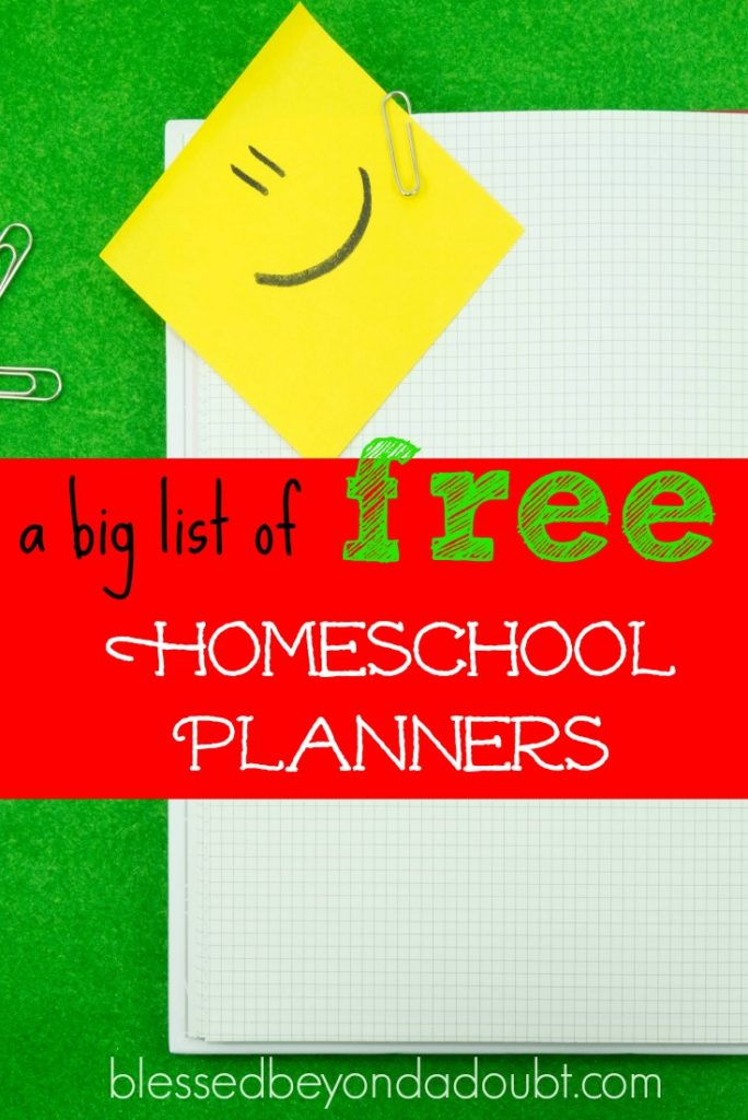 Diy Calendar Homeschool : Free homeschool planners