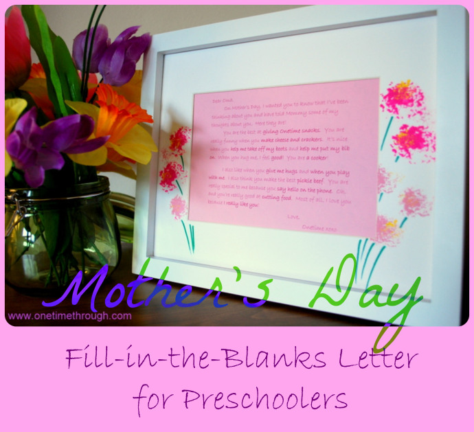 Teach Your Preschoolers how to wite a Love Note!