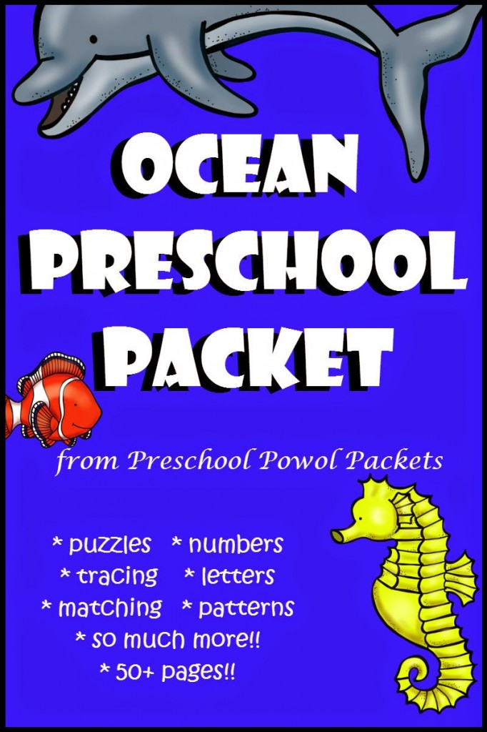 Hurry! FREE for 3 days! Ocean preschool packet cover (1)