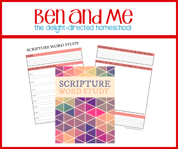 FREE Scripture Word Study Printable!