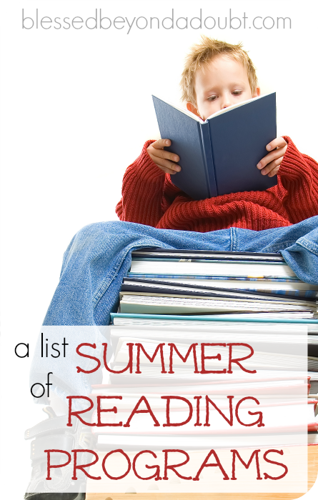 A list of summer reading programs for 2015.