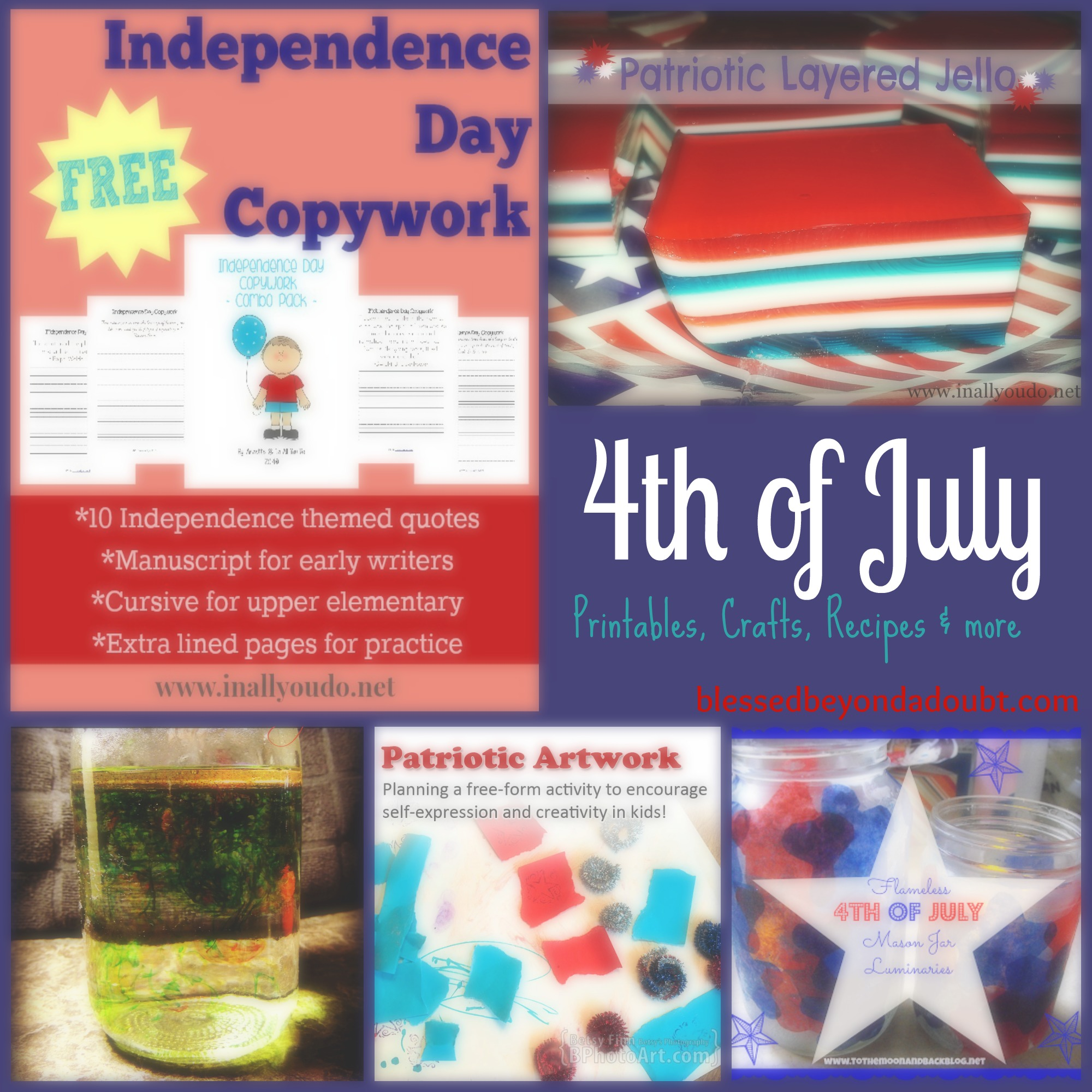 4th of July Printables, Crafts, Recipes & More!