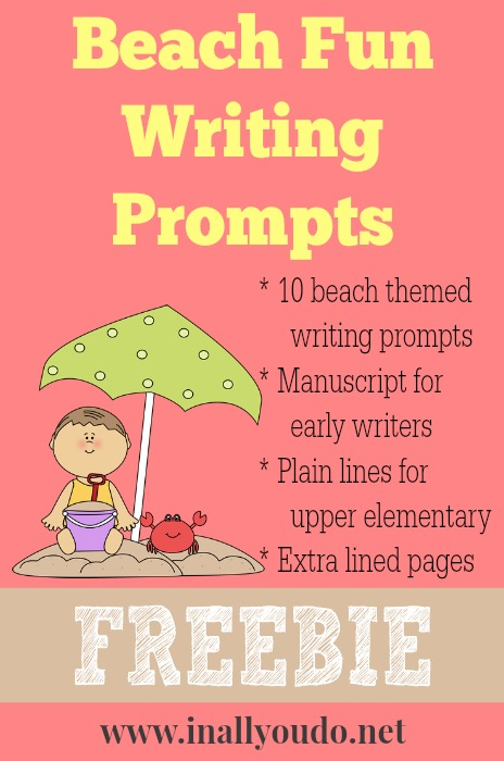 FREE Fun Beach Writing Prompts