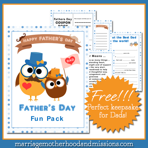 FREE-Fathers-Day-Fun-Pack! The perfect keepsake for dads.