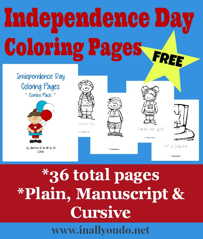 FREE Independence Day Coloring Pages