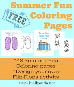 FREE-Summer-Fun-Coloring-Pages! Print these for when you go on vacation!