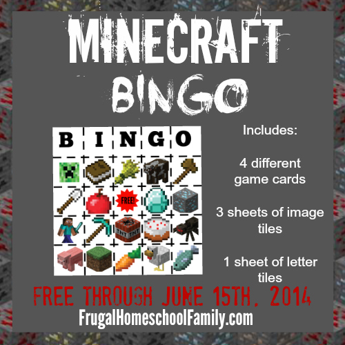 Play Minecraft-Bingo! Hurry, while it's FREE!
