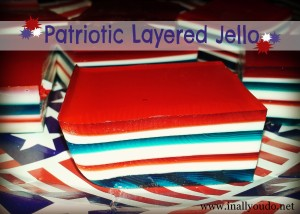 Patriotic Layered Jello