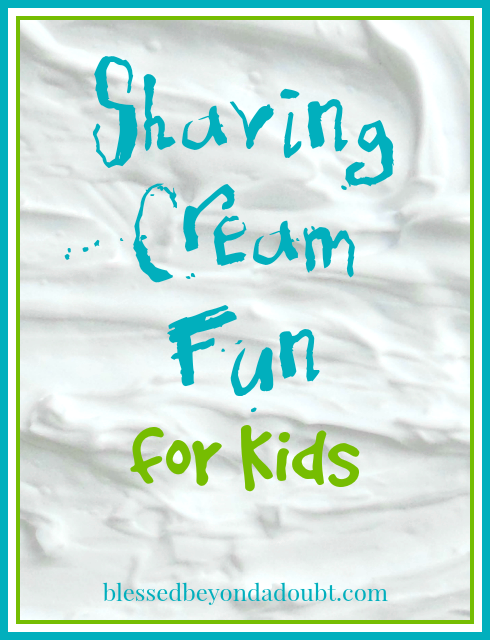Shaving Cream Fun for Kids