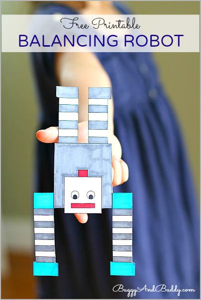 Make your own Robot with this FREE printable! FUN science experiment!