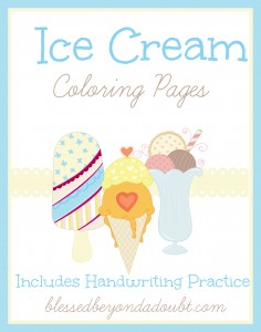 Ice cream coloring pages for #summer #printables