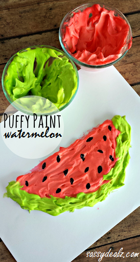 puffy paint watermelon