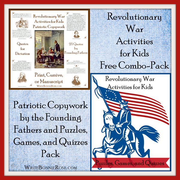 American Revolution Quotes: FREE Revolutionary War Activities For Kids Combo Pack