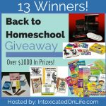Hurry and enter the Back-to-Homeschool-Giveaway! We are looking for 13 winners!