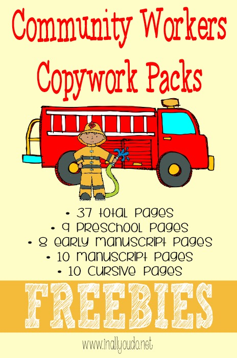 Community Workers Copywork Printables FREEBIES