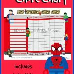 FREE Superhero Chore Charts! Not your usual chore chart!