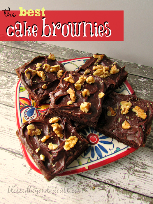 How to Make the Best Cake Brownies