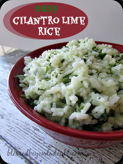 Easy and Refreshing Cilantro Lime Rice - Blessed Beyond A Doubt