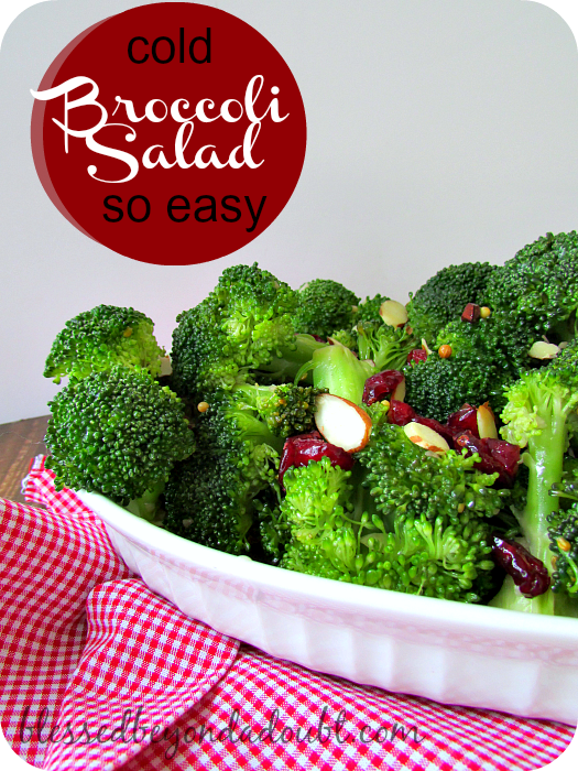 Easy Cold Broccoli Salad Recipe!