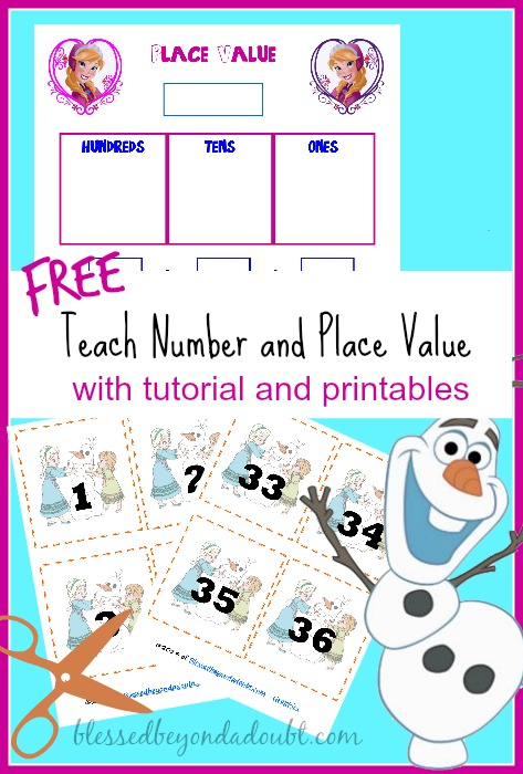 frozen teaching place value and number recognition printables blessed beyond a doubt. Black Bedroom Furniture Sets. Home Design Ideas