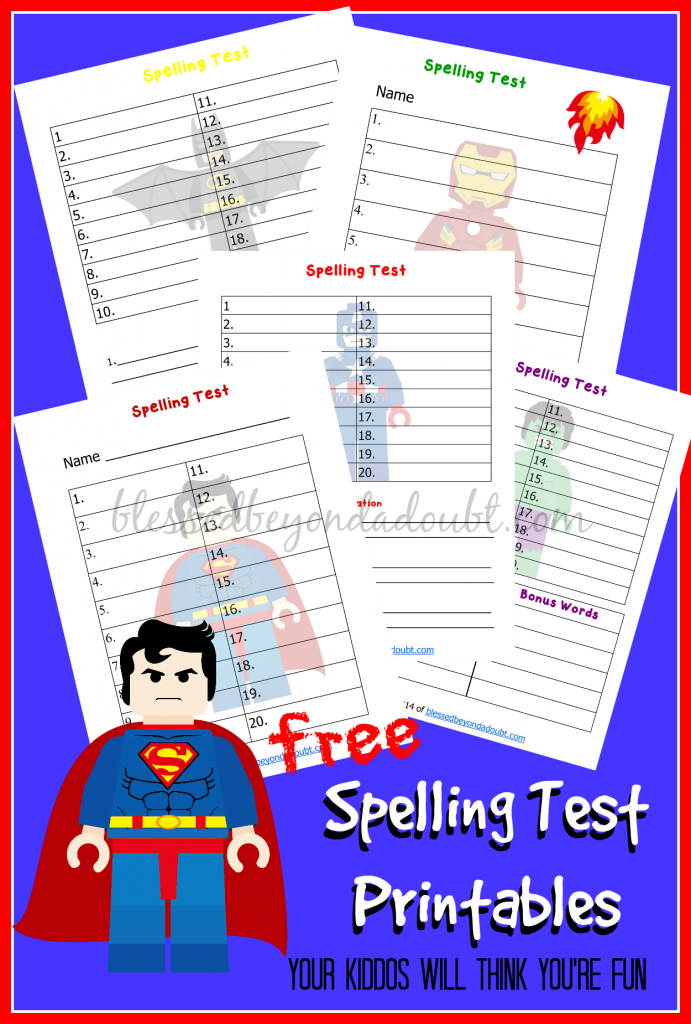 free lego spelling test printables   blessed beyond a doubt