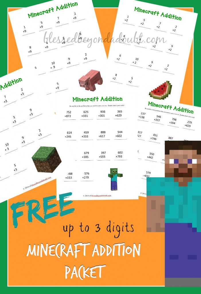 These are so FUN! Minecraft addition packet is FREE!