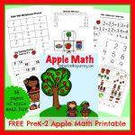 FREE Apple Math Printable for ages PreK-2!