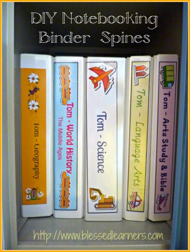 DIY Notebooking Binder Spines