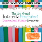 Last-Minute-Homeschool-Curriculum-Funds! We are giving away 300.00 cash!
