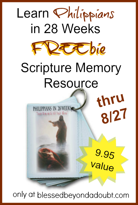 FREE Philippians Scripture Memory Cards! Hurry! Offer good thru 8/27!