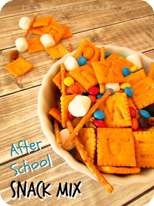 Super FUN after school snack mix