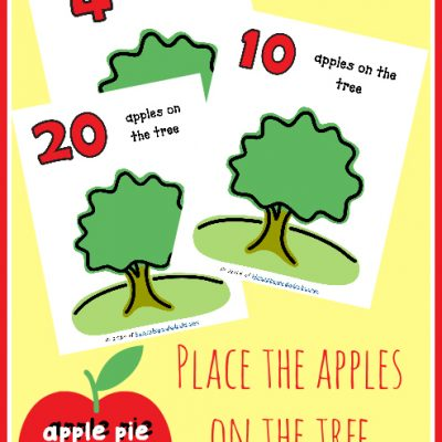 FREE Apple Playdough Mats with Recipe!