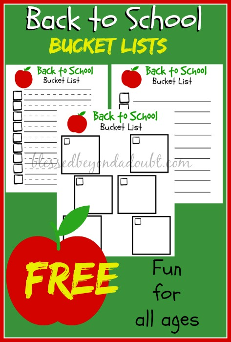 These back to school bucket lists are perfect for teachers and homeschoolers to help stay on check. My kids love filling these our on the first day of school.