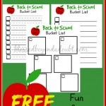 FREE back to school bucket list printables!