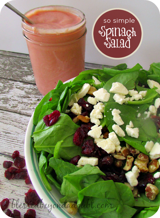 EASY Spinach Salad Recipe!