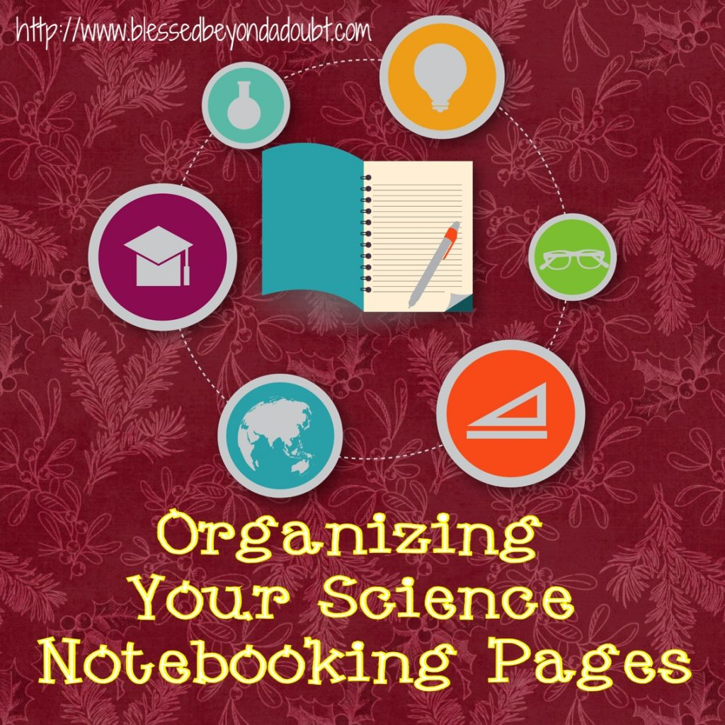 Organizing Your Science Notebooking Pages