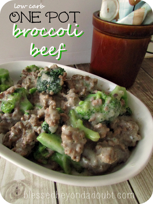 One Pot Low Carb Beef Broccoli Recipe