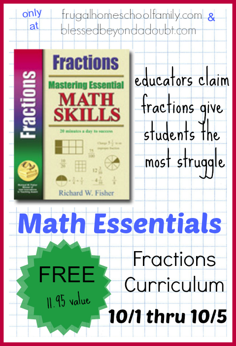 Hurry and grab the FREE fraction curriculum! It's an 11.95 value! Hurry! Offer ends 10/5!
