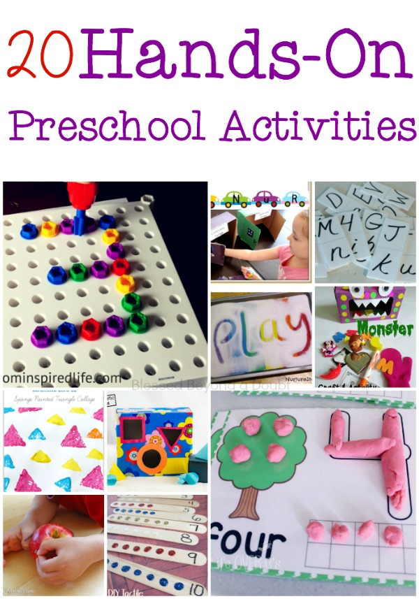 20 Hands On Preschool Activities for Literacy and Math