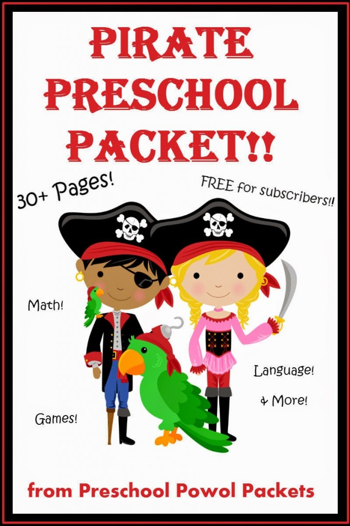 Pirate Preschool Packet