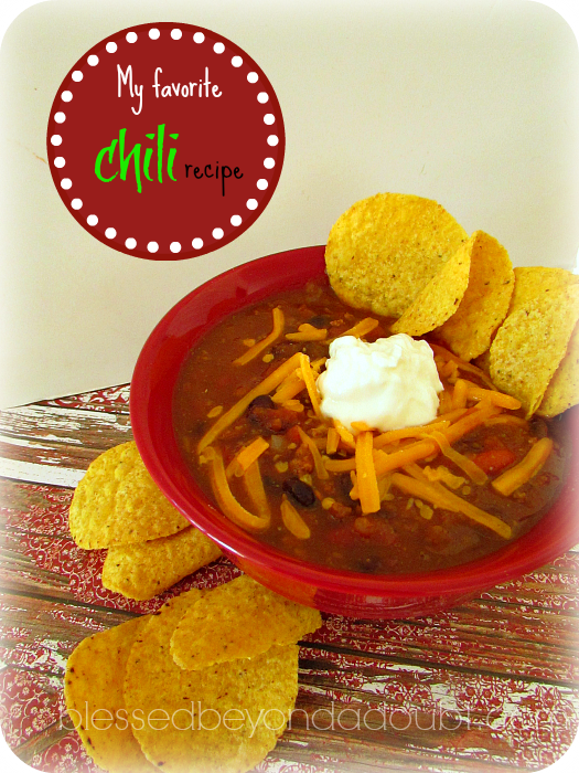 My Favorite Chili with the Secret Ingredient