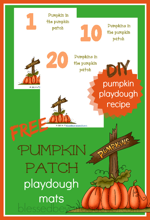 FREE Pumpkin Patch Playdough Mats with Recipe!